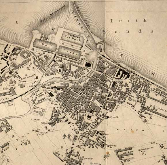 Map of Leith  -  1860