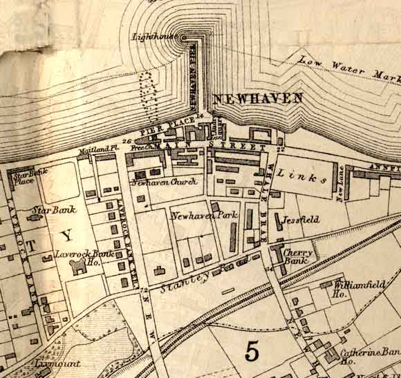 Map of Newhaven  -  1870
