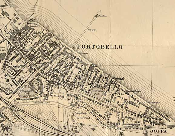 Portobello Map  -  1917  -  zoomed out