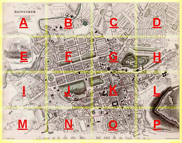 edinburgh map 1844 produced for the society for the. Black Bedroom Furniture Sets. Home Design Ideas
