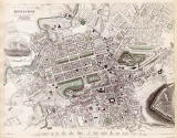 Map of Edinburgh  -  1844  -   Produced for the Society for the Diffusion of Useful Knowledge
