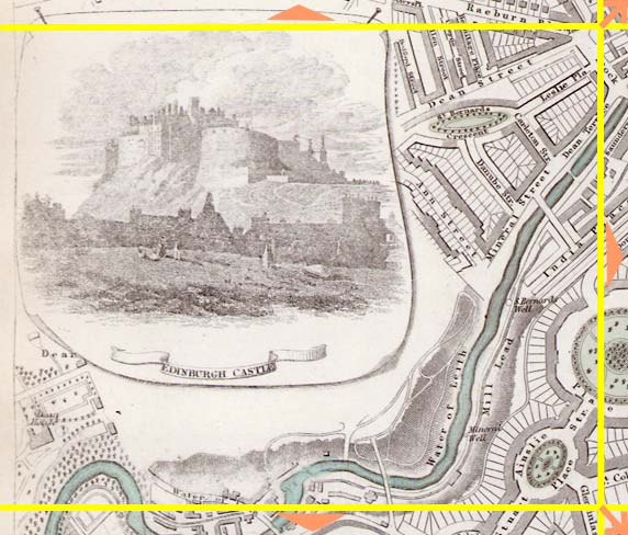 Edinburgh  -  1844  -  Map produced for the Society for the Diffusion of Useful Knowledge  -  Section E
