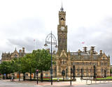 The City Hall and Lamp Post, Bradford  -  2013