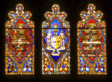 Stained Glass Windows - photograhed from inside St John's Church  -  Princes Street