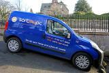 A van advertising 'Sort My PC' business, Colinton Road, Colinton  -  March 2013
