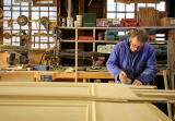 Mike working at Stark Buillding Services Ltd  -  a joinery workshop at Spylaw Street, Colinton  -  February 2013