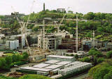 Photograph by Peter Stubbs  -  Edinburgh  -  May 2002  -  The Scottish Parliament under construction.