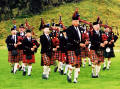 Photograph by Peter Stubbs  -  Edinburgh  -  August 2002  -  Pipers in Queen's Park