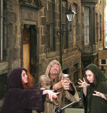 A scene from Frantic Redhead Productions' play 'Macbeth' - Edinburgh Fringe Festival, August 2007