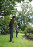 A scene from Frantic Redhead Productions' play 'Murder in the Gardens' - Edinburgh Fringe Festival, August 2007