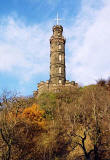 Photograph by Peter Stubbs  -  Edinburgh  -  November 2002  -  Nelson's Monument on Calton Hill