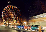Photograph by Peter Stubbs  -  Edinburgh  -  December 2002  -  The Big Wheel and Princes Street traffic