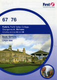 Photograph of Bandstand at Bo'ness on the cover of a First Bus Timetable, Falkirk Area