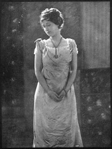 Photograph  of Miss Hellman  -  taken by William Crooke on a tour of America