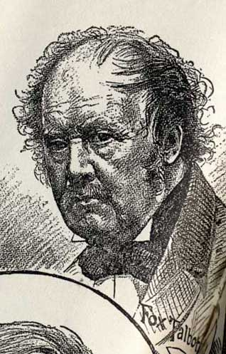 Engraving of Talbot  -  based on a photograph by Moffat