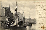 Post Card  -  Leith Inner Harbour  -  posted 1921