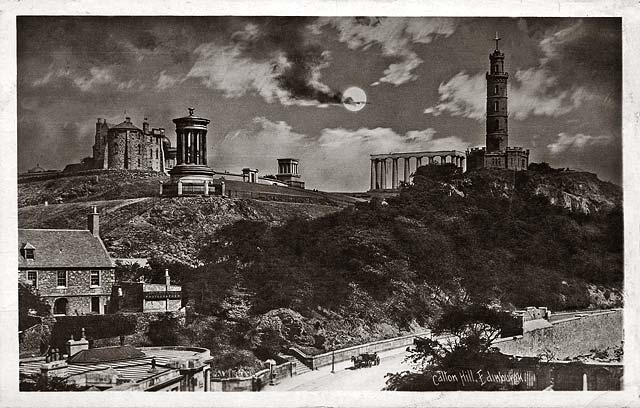 Calton Hill and Rock House  -  Post Card  -  Holmes Real Photographic Series