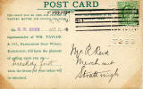 The back of a Postcard  used by Wm Taylor & Co, Broughton Soap Works  -  Tolbooth, Canongate, Edinburgh