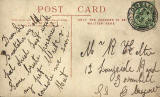 The back of a postcard by an unidentified publisher  -  Cook's Balmoral Hotel, Portobello