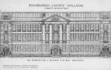Edinburgh Ladies' College, Front Elevation  -  Postcard by an unidentified publisher
