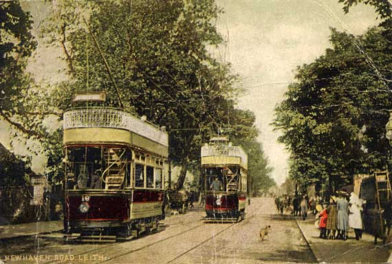 Trams in Newhaven Road