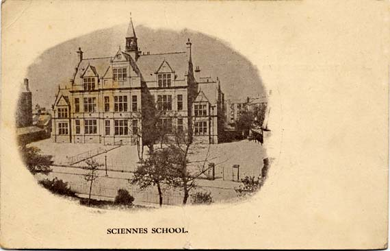 Postcard by an unidentified publisher  -  Sciennes School,  Edinburgh