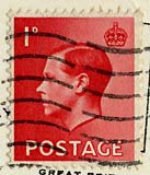 Penny stamp on postcard posted 1936