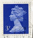 Queen Elizabeth II stamp  -  3p