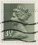 Queen Elizabeth II stamp  -  3.5p