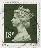 Queen Elizabeth II stamp  -  18p