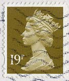 Queen Elizabeth II stamp  -  19p