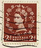 Queen Elizabeth II stamp  -  2d