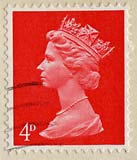 Queen Elizabeth II stamp  -  4d