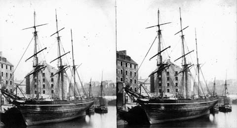 Leith Inner Harbour - Stereoscopic View by Begbie