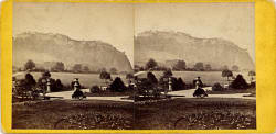 Stereo View of Edinburgh Castle from Princes Street Gardens  -  by Archibald Burns