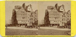 Stereo View by Archibald Burns  -  Head of West Bow, Edinburgh