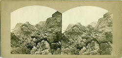A stereoview of Inchkeith by Archibald Burns