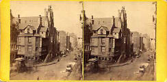 John Knox House in the Royal Mile  -  a later stereo view by Archibald Burns