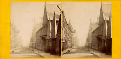 Stereo View of Moray House in the Royal Mile, Edinburgh  -  by Archibald Burns