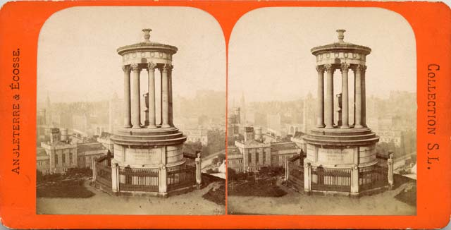 Stereo view by Collection SL  -  Dugald Stewart Monument