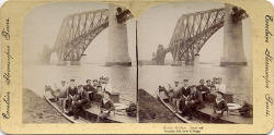 Stereo view in Excelsior Stereoscopic Tours series  -  Forth Rail Bridge