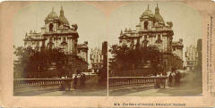 Stereoscopic view by Kilburn  -  Bank of Scotland, Head Office, Edinburgh