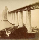 Enlargement of a stereo View by BW Kilburn  -  The Forth Rail Bridge