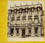 A stereo view with a blind stamp by Lennie  -  British Linen Bank, St Andrew Square