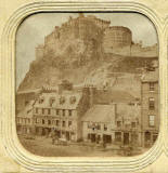 Enlargement of a stereo view of the Grassmarket and Edinburgh Castle  -  sold by Lennie