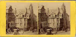 Stereo view from Lennie - John Knox House in the Royal Mile, Edinburgh