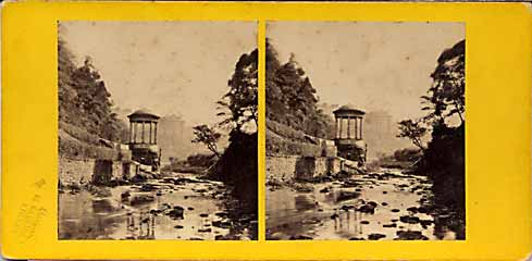 Stereo view from Lennie  -  St Bernard's Well on the Water of Leith