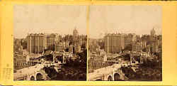 stereo view from Lennie - The Old Town of Edinburgh and Waverley Bridge, from Princes Street