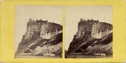 Mclashon's Scottish Stereographs  -  Edinburgh Castle from Johnston Terrace