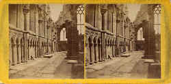 "Stereo view in the ""McGlashon's Scottish Stereotypes"" series  -  The North Wall of Holyrood Abbey"